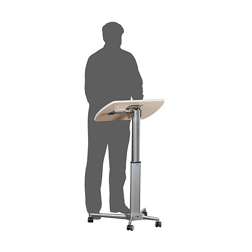 Height adjustable lectern and table - lectern position