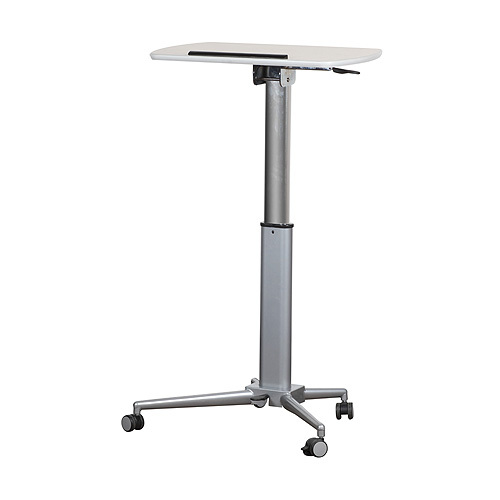 Height adjustable lectern and table - standing table position