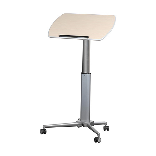 Height adjustable lectern and table - standing lectern position