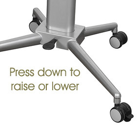 Height adjustable lectern and table - adjustable leaver