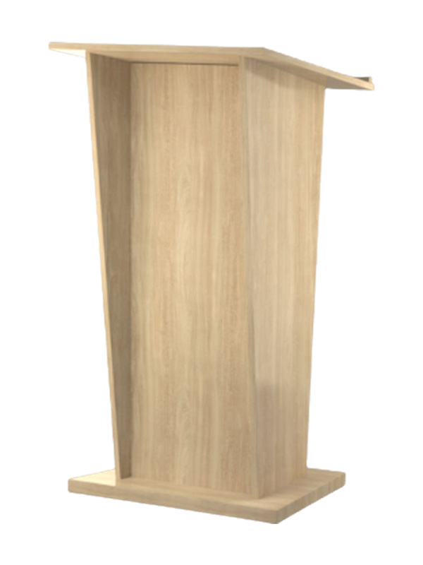 Bleached Elm lectern viewed from the audience side
