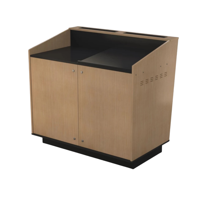 BGL-M02LA - A-Series Double bay lectern with LEFT side of top Angled.