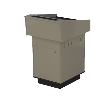 single bay lectern built from Baye melamine board.