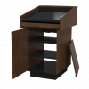 single bay lectern with angled worktop.