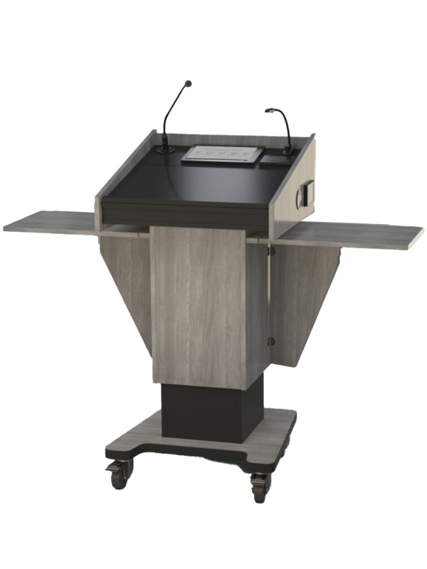 Post style lectern with various available options.