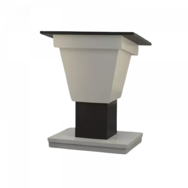 BGL-PS400-VH Post style variable height lectern with a wide top