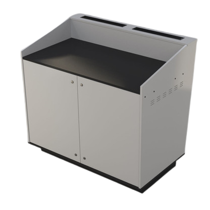 A-Series Double bay lectern built in White melamine board.
