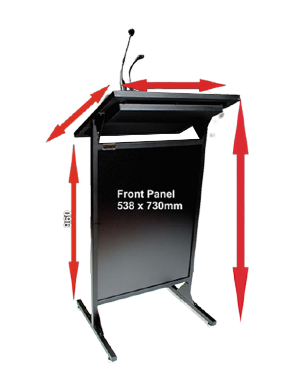 AL200S Diplomat Conference Lectern width and height