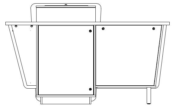 G-Series Single Bay Presenter Table - Left-Hand equipment cabinet