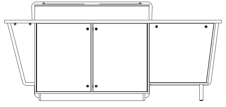 G-Series Double Bay Presenter Table - Left-Hand equipment cabinet