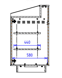 Single Bay - Flatwork surface with flat back - Narrow depth