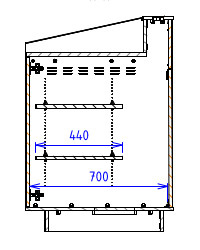 Single Bay - Flatwork surface with a flat back