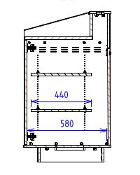 Triple Bay - Flat work surface with flat back - Narrow depth
