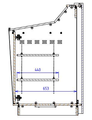 Single Bay – Angled work surface