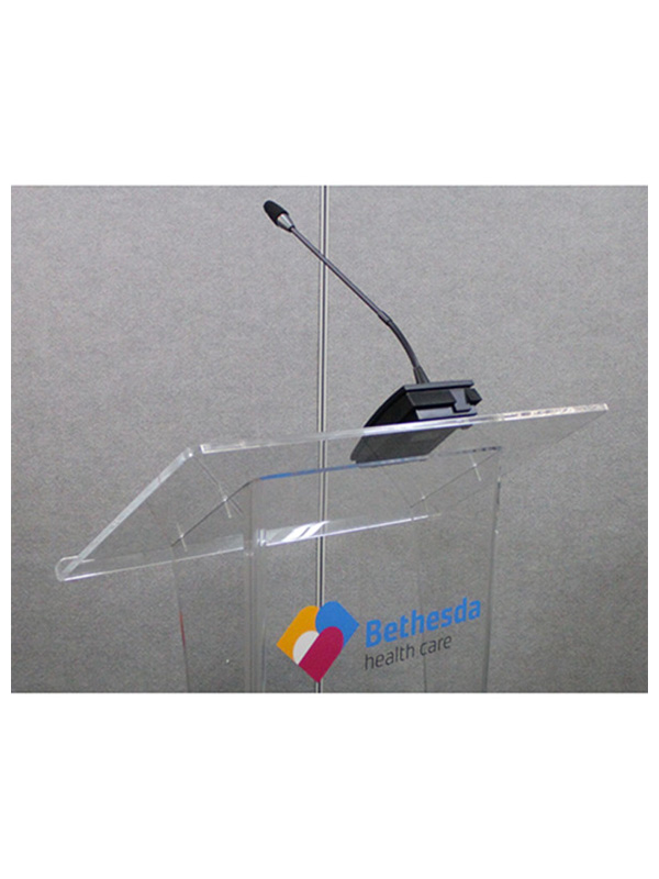 Chaplain Acrylic Lectern – ACL-100 WIRELESS MICROPHONE OPTIONAL