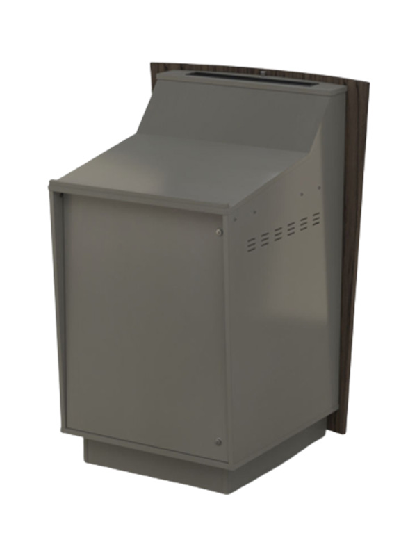 Single bay lectern with Angled benchtop.