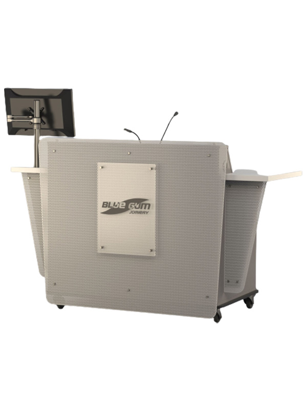 G-Series Double bay lectern shown with various options.