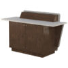 Double bay lectern built from Aged Walnut and White Melamine board