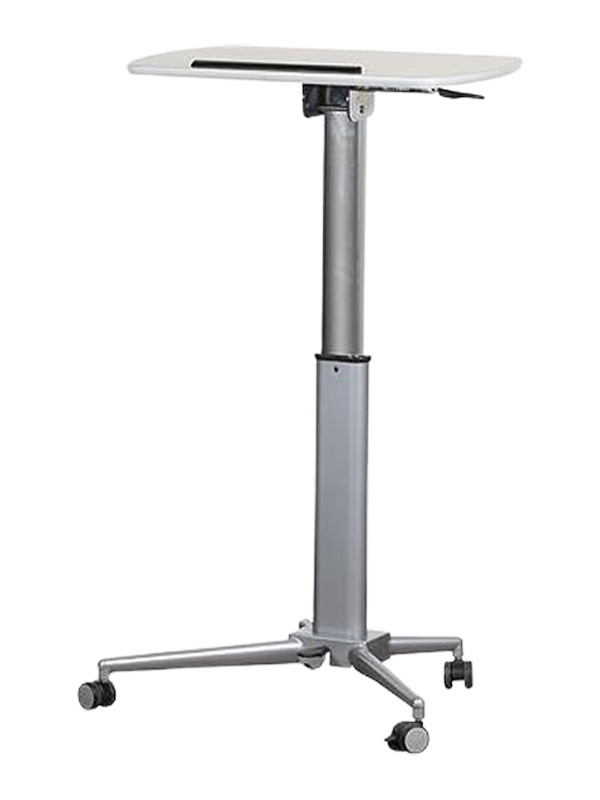 Two tables in one and height adjustable castor wheel
