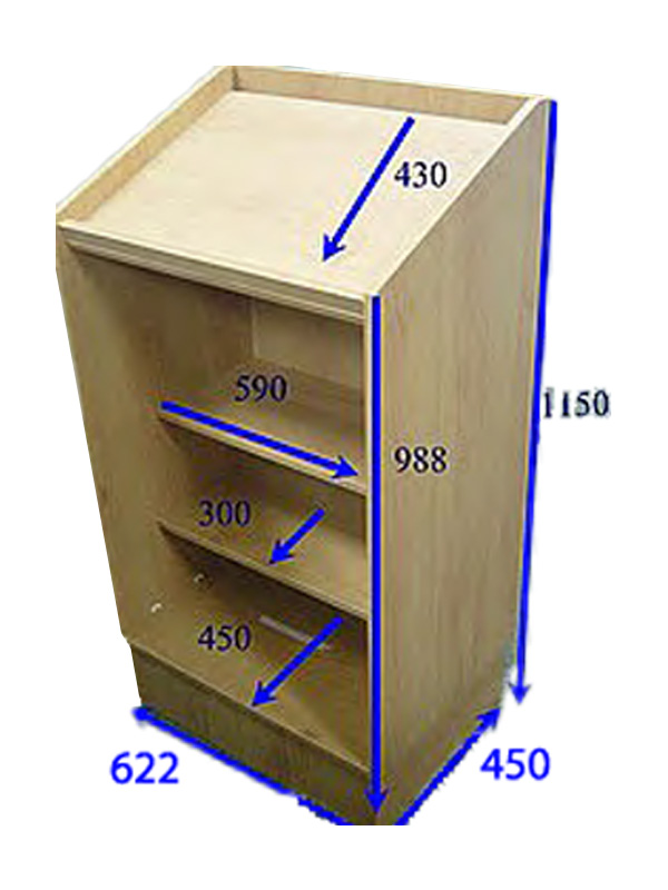 Dimensions for the WL2000 President Lectern Podium