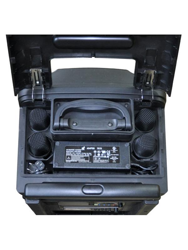 """Built in 2-way 240 watt speaker system (10"""" + 1"""" HF)."""