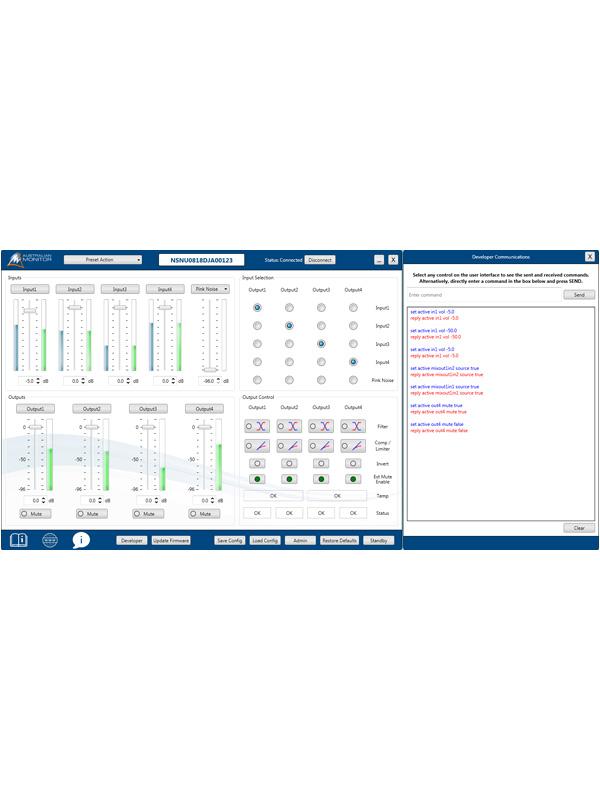 Programmable via PC UI application