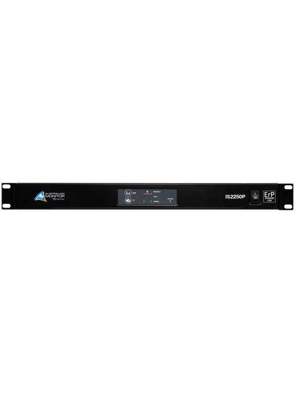 IS2250P 2 x 250W Power Amplifier with Ethernet, DSP, Dante® Support