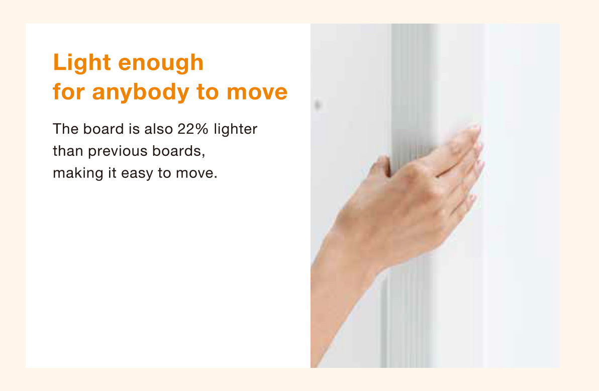 Light board easily moveable