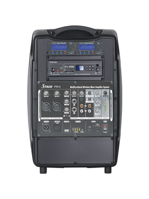 STAGE PRO Portable Wireless Mixer PA System
