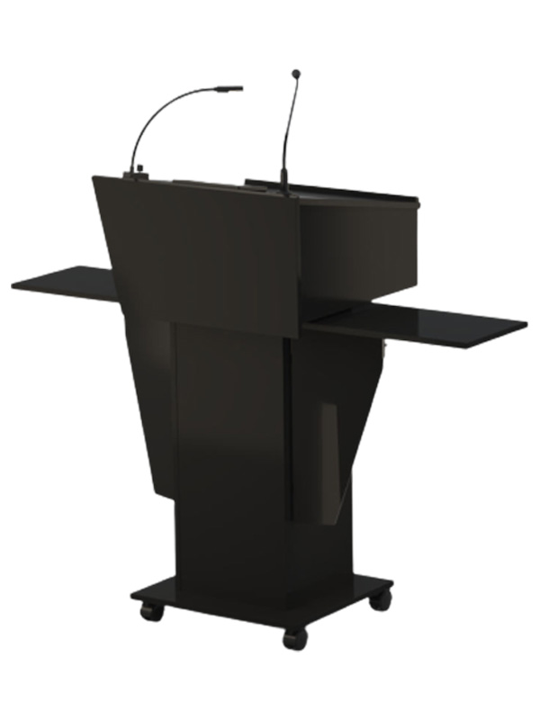 Standard Black Melamine Lectern with large head with a slim body