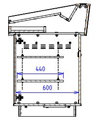 Single Bay - Angled work surface with angled back