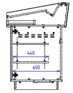 Single Bay Lecterns Angled work surface with angled back