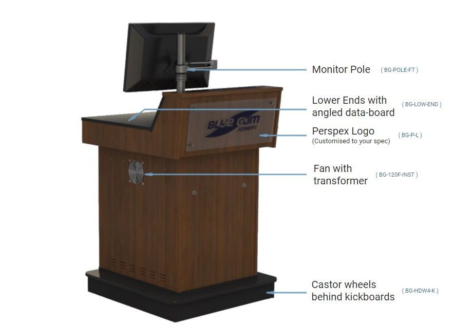 Options available to order with your A-Series Single bay lectern