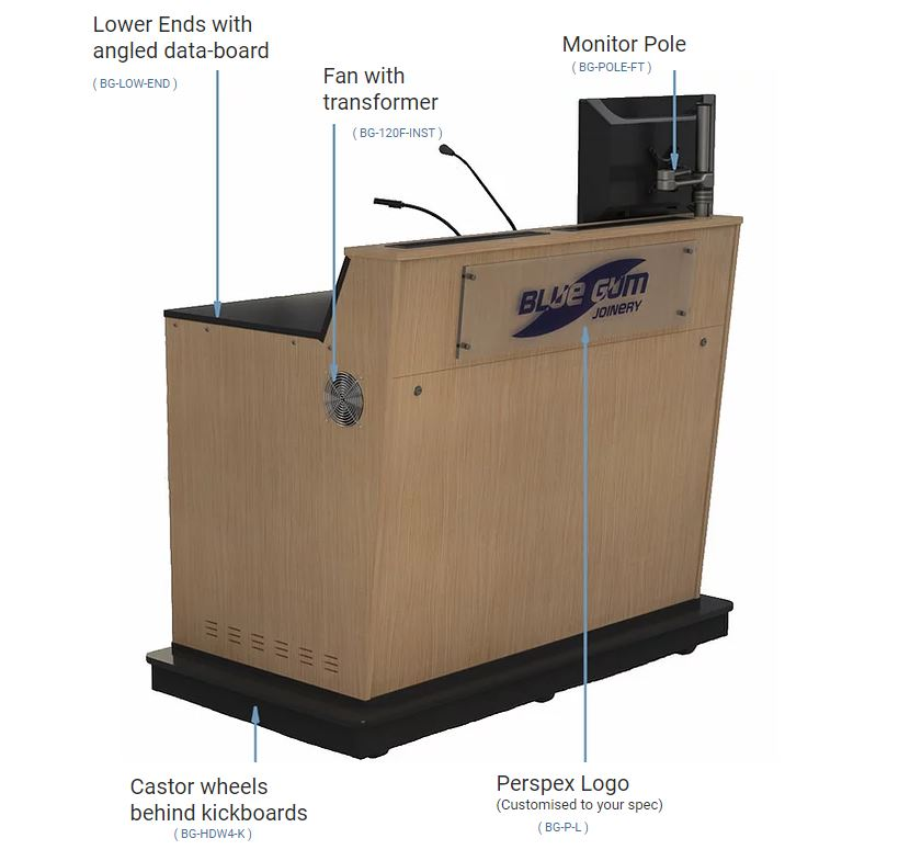 A-Series Double Bay Lecterns Options
