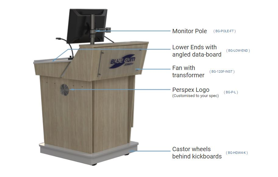Best Options available to order with your C-Series Single bay lectern.