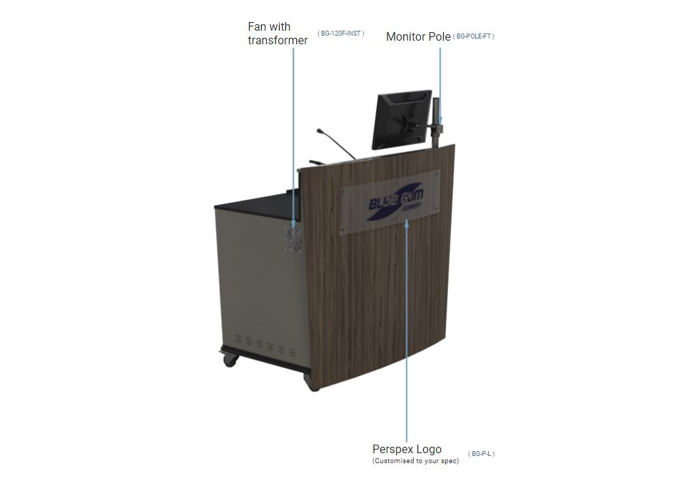 Double bay lecterns large area