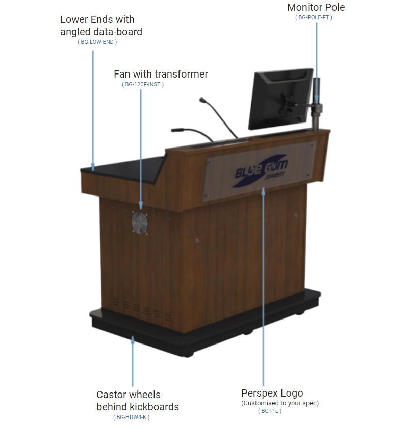 Fully customized Double Bay Lecterns