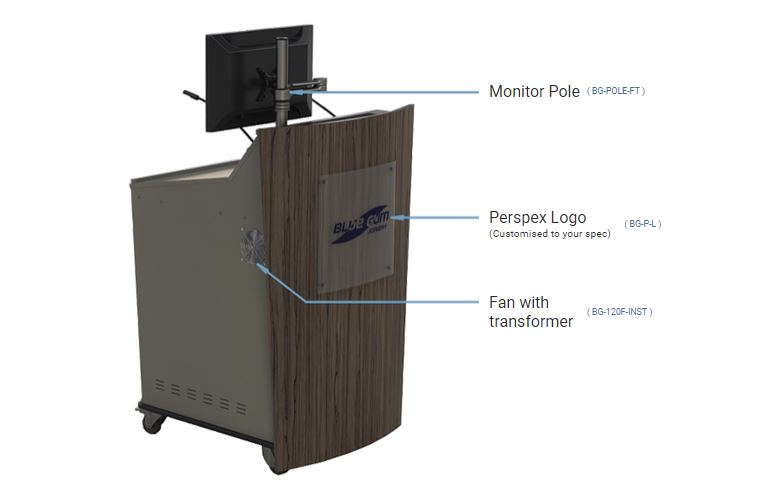 Popular Options available to order with your D-Series Single bay lectern