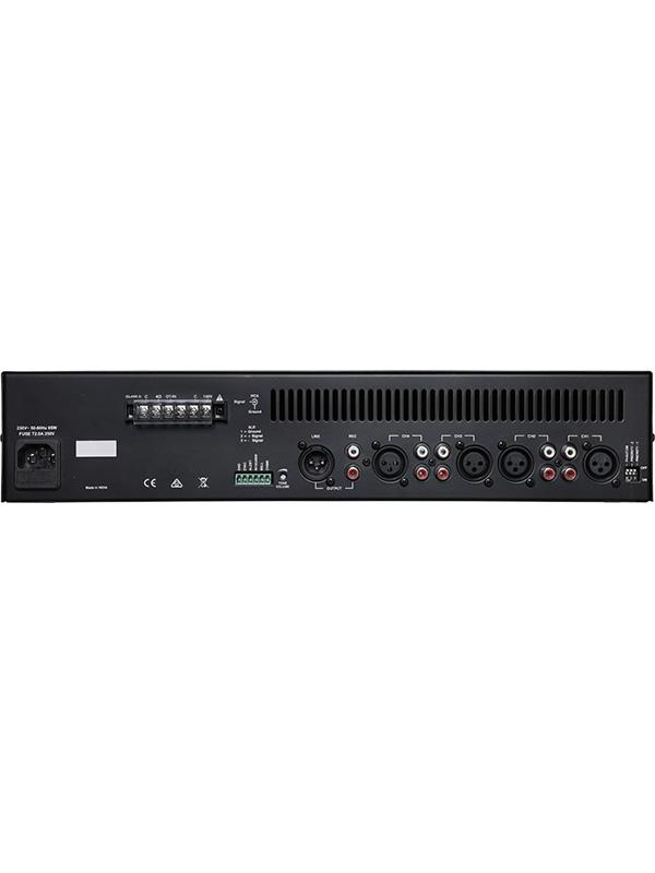 4 XLR microphone/dual RCA line inputs