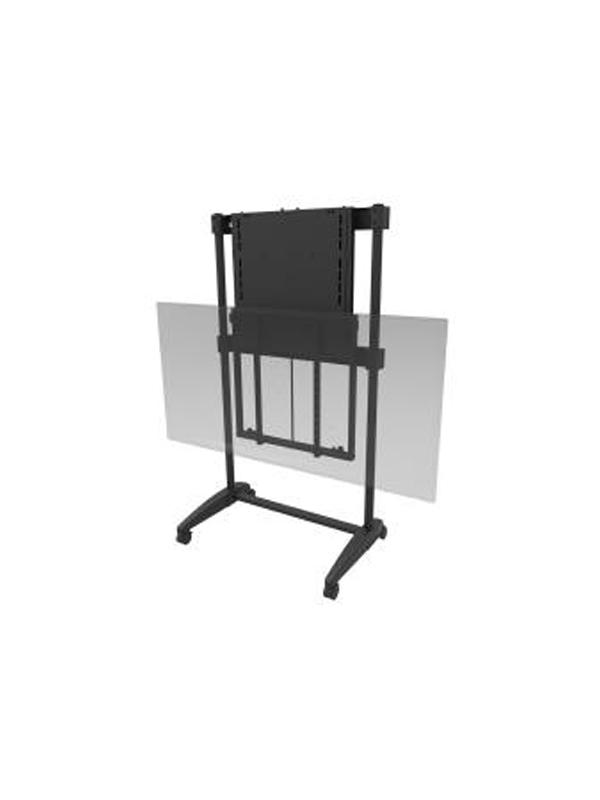 Height adjustable portable TV cart